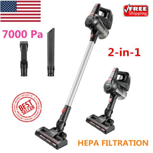 2-in-1 Handheld Vacuum Cleaner Cordless Stick Vacuum 7Kpa HE