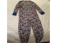 Next boys onesie covered with smiley faces age 10