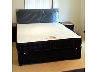 KING SIZE MEMORY FOAM ON SPRING MATTRESS WITH BASE AND HEADBOARD