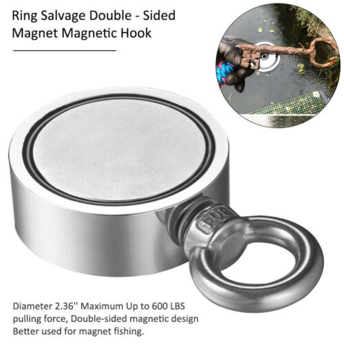 FISHING MAGNET UPTO HEAVY DUTY STRONG NEODYMIUM MAGNET 800 LBS PULL FORCE US