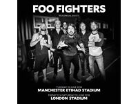 Foo Fighters 2 x SEATED Tickets at London's Olympic Stadium, Stratford, Friday 22 June 2018