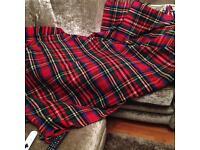 Tartan wool blankets. Vintage