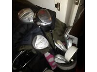 Golf clubs in bag look