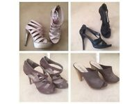 Collection of party shoes (4pairs) size 7
