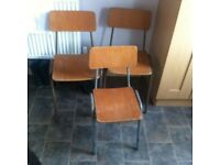 Vintage retro school chairs for refurb / upcycling