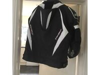 "Men""s large (50"") leather RST Tractech eco fully armoured jacket"