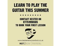 LEARN TO PLAY THE GUITAR THIS SUMMER - Bespoke lessons to suit your own ability and style