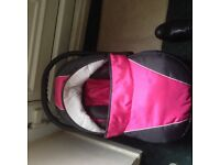 Twin pram and accessories