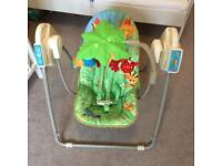 Fisher Price Rain Forest Baby Swing like new