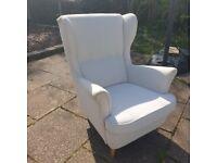 Ikea Stradmon Wingchair cream