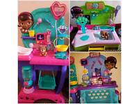 Doc mcstuffins x3 playsets with extras + disney princess keyboard