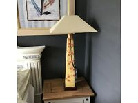A pair of tall table lamps