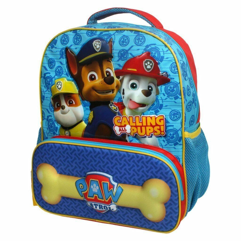 paw patrol boys school book bag backpack