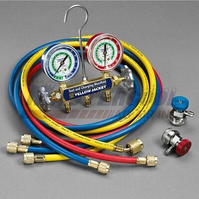 Yellow Jacket 41339 2 Valve 134a Automotive Series 41 Manifold Complete Set