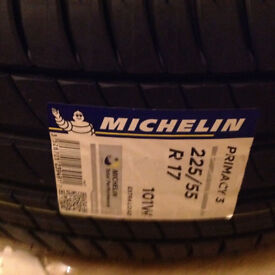 225 55 17 Brand new Michelin Primacy 3. extra load XL 101W tyres.