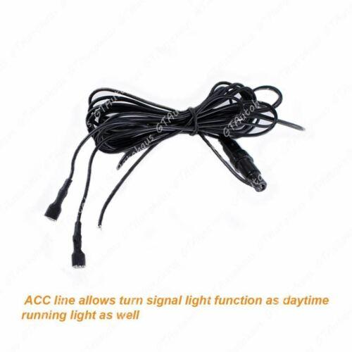 Swtichback White/Amber LED Turn Signal DRL Lights For 1999