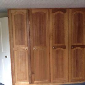 Wooden wardrobe doors x 5