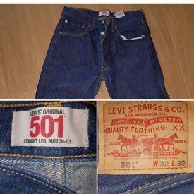 501 Levi men's original Jeans W32 L30