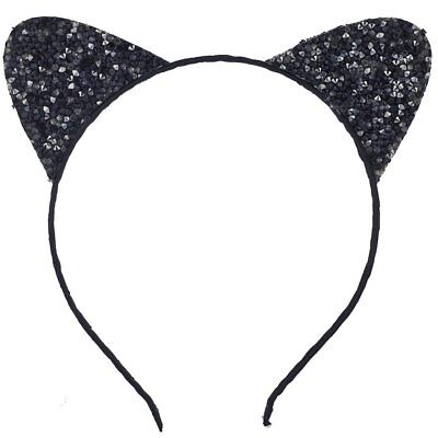 Lux Accessories Black Cat Ear Halloween Costume Accessory Headband Kids Adults](Black Cat Halloween Costume Accessories)