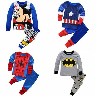 Kids boys Halloween Cosplay Pajamas set Suitable for boys 80-130CM Breathable (Superhero Pjs For Kids)