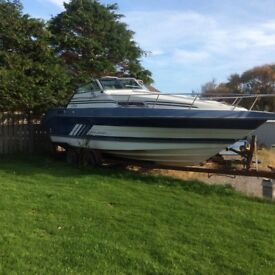 "Cruiser Intl 5.7 Mercruiser 230hp .. Length 25ft Beam 8'6""."