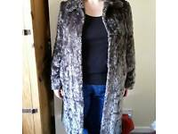 Faux fur 3/4 length coat size 14