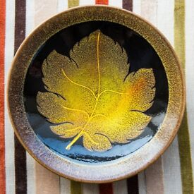 Vintage Poole Pottery Aegean Autumn Leaves Plate/Charger