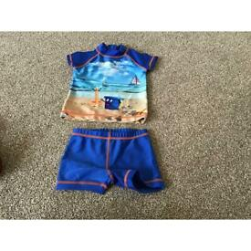 Baby boy clothes ( 2 pieces swimming suit - 6-9 months)