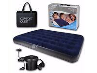 Double Air Bed with Electric Pump