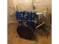 Fully Refurbished Performance Percussion Beginners Drum Kit (Can Deliver/Set Up Locally)