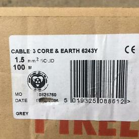 Bargain Price. Two Brand New 100 m Rolls Of Electrical Cable