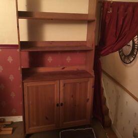 Bookcase and corner tv unit