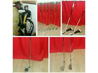 Golf Clubs Full Set Seve Icon Irons (4-pw), Woods, Putter, Wedges and Bag (Taylormade MD Golf)