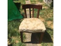 Edwardian Mahogany dressing table seat chair