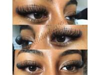 Individual eyelash extensions Classic and Russian Volume