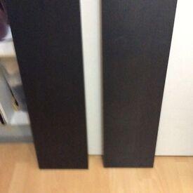 2 black floating shelfs collection only bargain