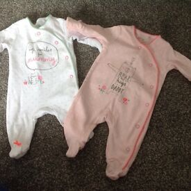 Baby girl clothes. Newborn and 0-3months
