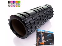 Foam Roller For Muscle Massage -Exercise Book Included