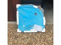 Brand new 900 x 900 quadrant shower tray