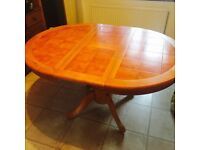 REAL WOOD EXTENDABLE DINING TABLE