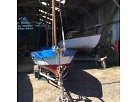 Drascombe Dabber , Lovely sailing boat, includes good road trailer, mercury 2 stroke, 4hp engine
