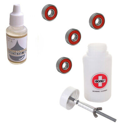 ABEC 9 Fidget Spinner Bearings with Speed Oil Bearing Lube / BONES CLEANING KIT