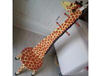Wooden Giraffe Seat Coat Hanger