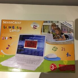 Sivercrest Learn and Play Laptop for children age 6 years and above . New never used
