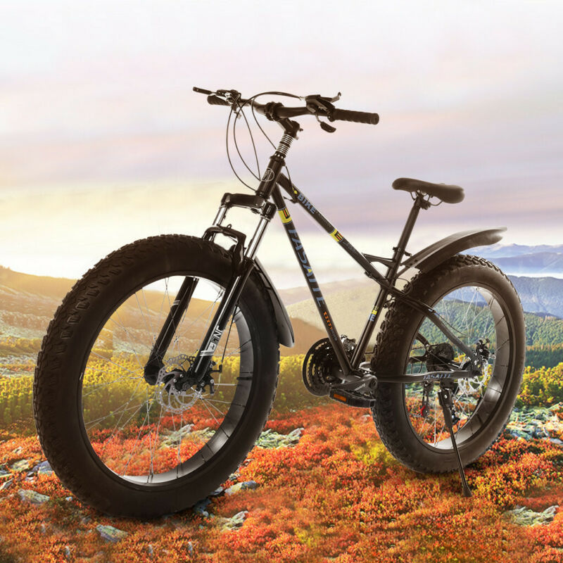 """26/"""" 4/""""D Fat Tire 21Speed  Snow Mountain Bike Bicycle High-Aluminum Frame MTB"""