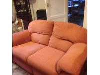 Two piece settee recliner yours fee if you can collect