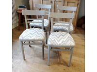 4 vintage chairs. vintage chairs. dining room chairs. kitchen chairs. 4 bentwood chairs. (1483)