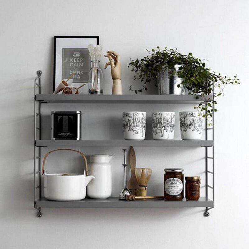 String Pocket Shelf Shelving Unit Danish Storage Shelves - VARIOUS COLOURS
