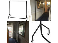 4 heavy duty steel clothing rails with wheels, great condition, for home or retail ( 1double rail )