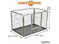 Puppy or small animal cage with plastic floor - as new, in box